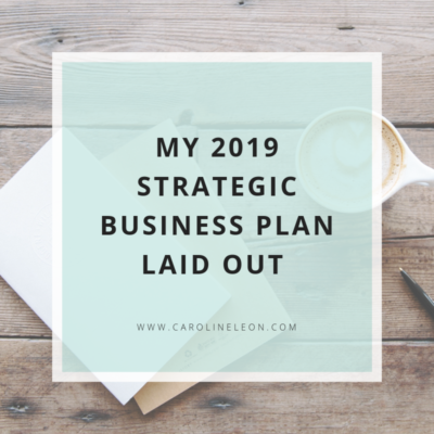 My 2019 Strategic Business Plan Laid Out