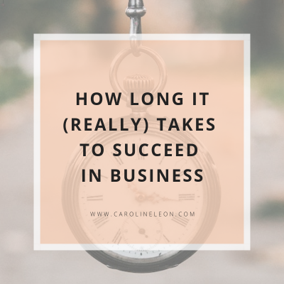 How Long it Really Takes to Succeed in Business